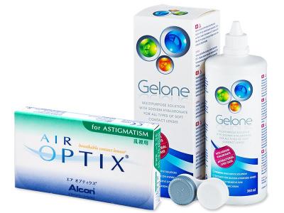 Air Optix for Astigmatism (6 Linsen) +Gelone 360ml - Älteres Design