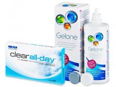 Kontaktlinsen Clear Lab - Clear All-Day (6Linsen) +Gelone 360ml