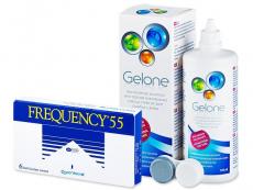 Günstige Linsen-Pakete - Frequency 55 (6 Linsen) +Gelone360ml