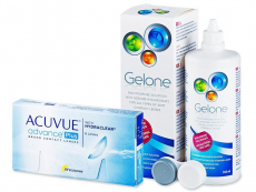 Günstige Linsen-Pakete - Acuvue Advance PLUS (6 Linsen) +Gelone360ml