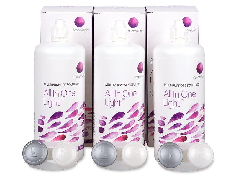 Pflegemittel All In One Light 3x 360 ml  - Pflegelösung – 3er Pack