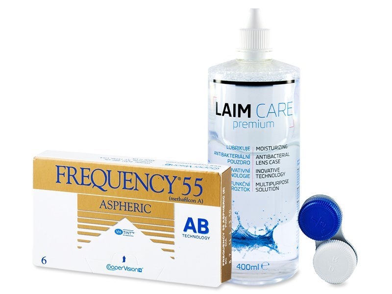 Frequency 55 Aspheric (6 Linsen) +Laim Care400ml - Spar-Set
