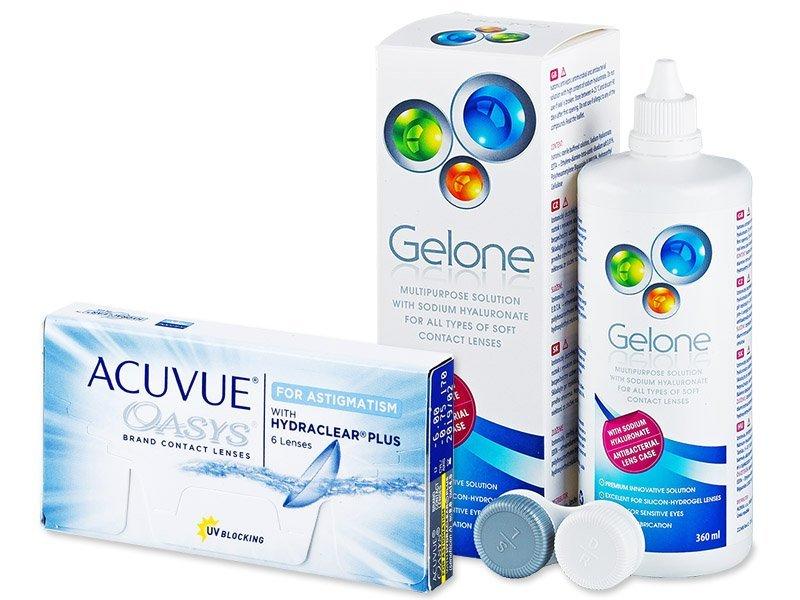 Acuvue Oasys for Astigmatism (6 Linsen) +Gelone360ml - Spar-Set