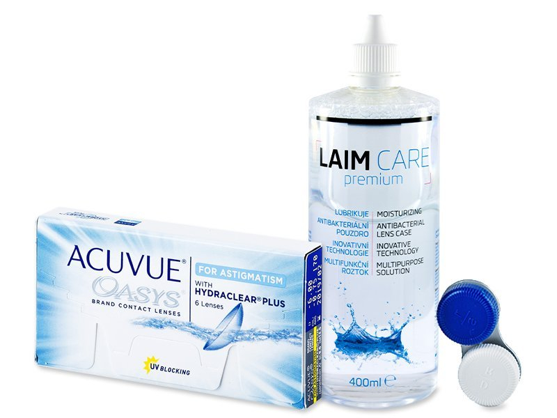 Acuvue Oasys for Astigmatism (6 Linsen) + Laim Care 400ml - Spar-Set