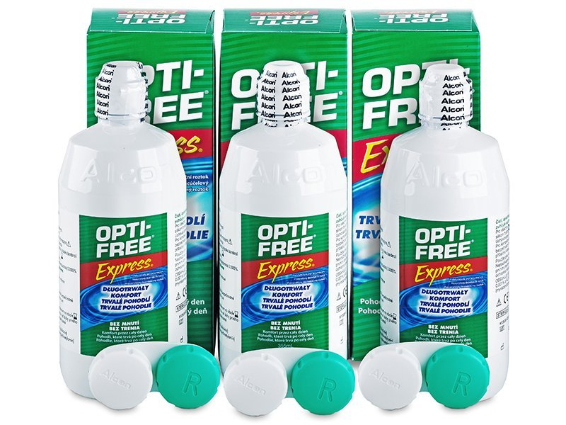 OPTI-FREE Express 3 x 355 ml - Pflegelösung – 3er Pack - Alcon