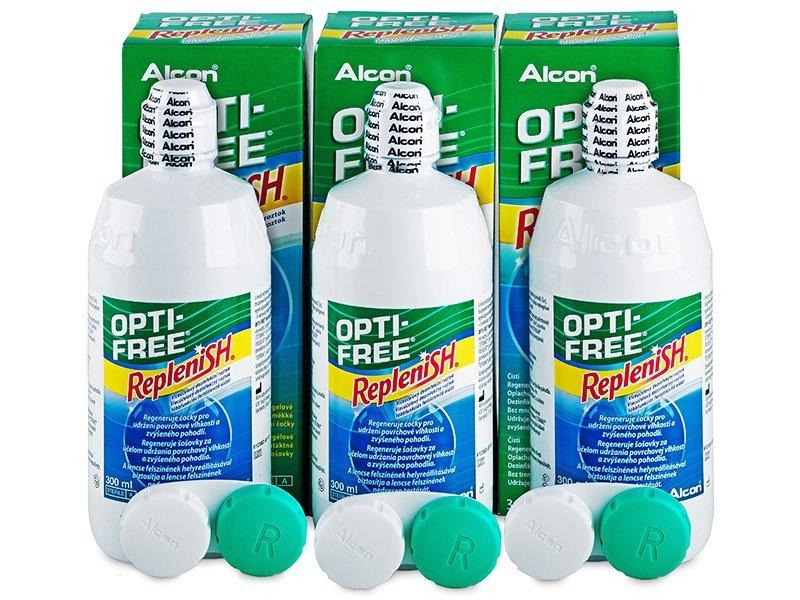 OPTI-FREE RepleniSH 3x300ml - Pflegelösung – 3er Pack - Alcon