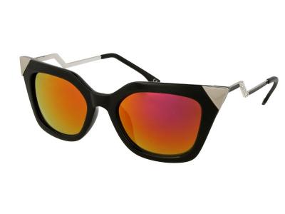 Sonnenbrillen Damen Sonnenbrille Alensa Cat Eye Shiny Black Mirror