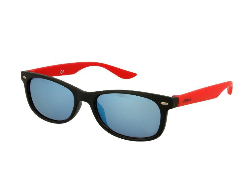 Kinder Sonnenbrille Alensa Sport Black Red Mirror