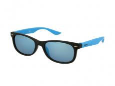 Sonnenbrillen Classic Way - Kinder Sonnenbrille Alensa Sport Black Blue Mirror
