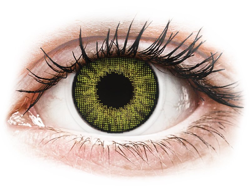Air Optix Colors - Gemstone Green - ohne Stärke (2 Linsen) - Coloured contact lenses