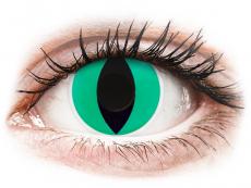 Grüne Kontaktlinsen ohne Stärke - ColourVUE Crazy Lens - Anaconda - ohne Stärke (2 Linsen)