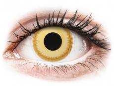 Gelbe Kontaktlinsen ohne Stärke - ColourVUE Crazy Lens - Avatar - ohne Stärke (2 Linsen)