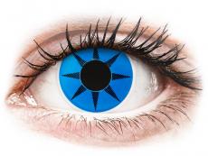 Farblinsen - ColourVUE Crazy Lens - Blue Star - ohne Stärke (2 Linsen)