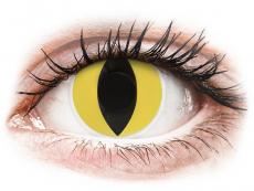 Gelbe Kontaktlinsen ohne Stärke - ColourVUE Crazy Lens - Cat Eye - ohne Stärke (2 Linsen)