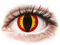 Gelbe Kontaktlinsen ohne Stärke - ColourVUE Crazy Lens - Dragon Eyes - ohne Stärke (2 Linsen)