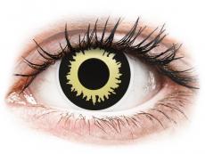 Gelbe Kontaktlinsen ohne Stärke - ColourVUE Crazy Lens - Eclipse - ohne Stärke (2 Linsen)