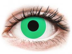Grüne Kontaktlinsen ohne Stärke - ColourVUE Crazy Lens - Emerald (Green) - ohne Stärke (2 Linsen)