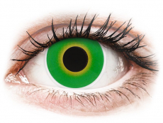 Grüne Kontaktlinsen ohne Stärke - ColourVUE Crazy Lens - Hulk Green - ohne Stärke (2 Linsen)