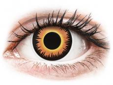 Gelbe Kontaktlinsen ohne Stärke - ColourVUE Crazy Lens - Orange Werewolf - ohne Stärke (2 Linsen)