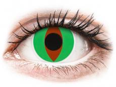 Grüne Kontaktlinsen ohne Stärke - ColourVUE Crazy Lens - Raptor - ohne Stärke (2 Linsen)
