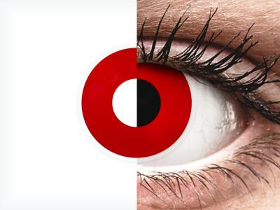ColourVUE Crazy Lens - Red Devil - ohne Stärke (2 Linsen)