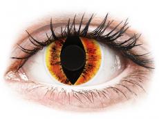 Gelbe Kontaktlinsen ohne Stärke - ColourVUE Crazy Lens - Saurons Eye - ohne Stärke (2 Linsen)