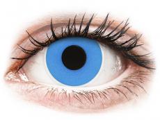 Blaue Kontaktlinsen ohne Stärke - ColourVUE Crazy Lens - Sky Blue - ohne Stärke (2 Linsen)
