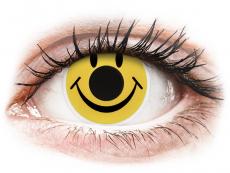 Gelbe Kontaktlinsen ohne Stärke - ColourVUE Crazy Lens - Smiley - ohne Stärke (2 Linsen)