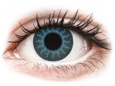 Blaue Kontaktlinsen ohne Stärke - ColourVUE Crazy Lens - Solar Blue - ohne Stärke (2 Linsen)