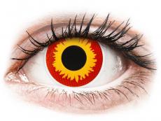 Gelbe Kontaktlinsen ohne Stärke - ColourVUE Crazy Lens - Wildfire - ohne Stärke (2 Linsen)