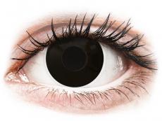 Schwarze Kontaktlinsen mit Stärke - ColourVUE Crazy Lens - BlackOut - mit Stärke (2 Linsen)