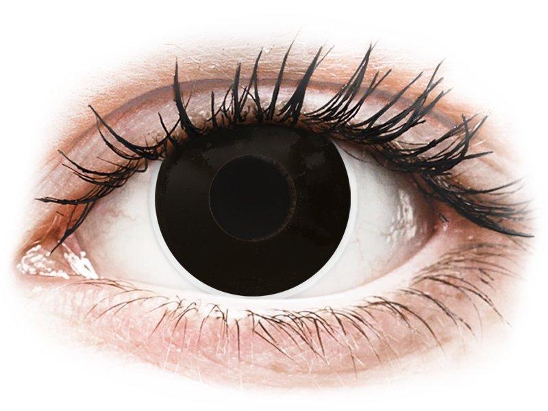 ColourVUE Crazy Lens - BlackOut - mit Stärke (2 Linsen) - Coloured contact lenses