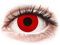 Rote Kontaktlinsen mit Stärke - ColourVUE Crazy Lens - Red Devil - mit Stärke (2 Linsen)