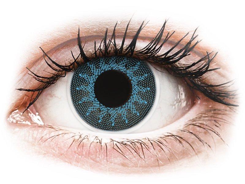 ColourVUE Crazy Lens - Solar Blue - mit Stärke (2 Linsen) - Coloured contact lenses