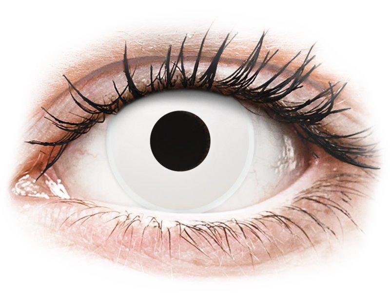 ColourVUE Crazy Lens - WhiteOut - mit Stärke (2 Linsen) - Coloured contact lenses