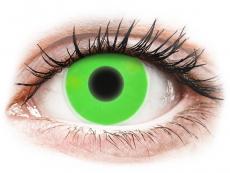 Grüne Kontaktlinsen ohne Stärke - ColourVUE Crazy Glow Green - ohne Stärke (2Linsen)