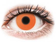 Farblinsen - ColourVUE Crazy Glow Orange - ohne Stärke (2Linsen)