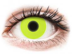 Gelbe Kontaktlinsen ohne Stärke - ColourVUE Crazy Glow Yellow - ohne Stärke (2Linsen)