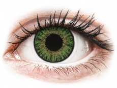 Grüne Kontaktlinsen mit Stärke - TopVue Color Tageslinsen - Green - mit Stärke (10Linsen)