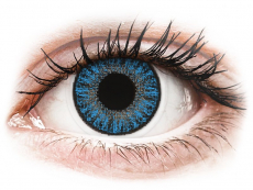 Blaue Kontaktlinsen ohne Stärke - TopVue Color Tageslinsen - Sapphire Blue - ohne Stärke (10Linsen)