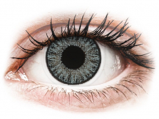 Graue Kontaktlinsen mit Stärke - TopVue Color Tageslinsen - Soft Grey - mit Stärke (10Linsen)