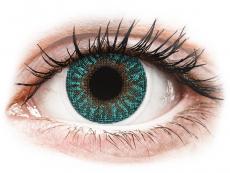 Blaue Kontaktlinsen mit Stärke - TopVue Color - Turquoise - mit Stärke (2Linsen)