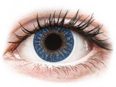 Blaue Kontaktlinsen ohne Stärke - TopVue Color - True Sapphire - ohne Stärke (2 Linsen)