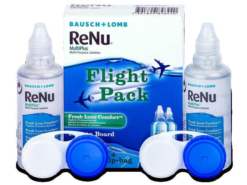 ReNu MultiPlus Flight Pack 2x60 ml  - Reinigungslösung