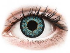 Blaue Kontaktlinsen ohne Stärke - ColourVUE Glamour Aqua - ohne Stärke (2Linsen)