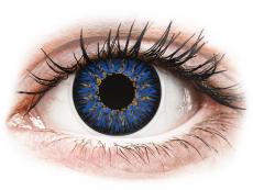 Blaue Kontaktlinsen ohne Stärke - ColourVUE Glamour Blue - ohne Stärke (2Linsen)