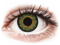 Farblinsen mit Stärke - ColourVUE Glamour Green - mit Stärke (2Linsen)