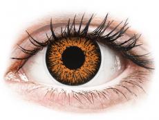 Braune Kontaktlinsen ohne Stärke - ColourVUE Glamour Honey - ohne Stärke (2Linsen)