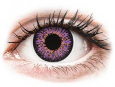 Lilafarbene Kontaktlinsen ohne Stärke - ColourVUE Glamour Violet - ohne Stärke (2Linsen)