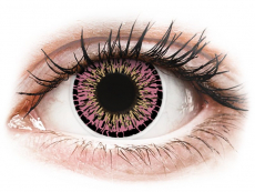 Rosafarbene Kontaktlinsen ohne Stärke - ColourVUE Elegance Pink - ohne Stärke (2Linsen)